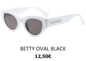 GAFAS DE SOL RENEGADE BETTY OVAL BLACK