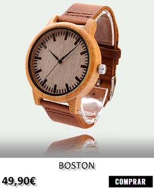 RELOJ DE MADERA RENEGADE BOSTON