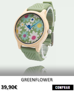 RELOJ DE MADERA RENEGADE GREENFLOWER