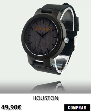 RELOJ DE MADERA RENEGADE HOUSTON