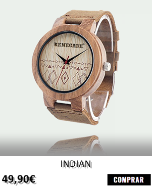 RELOJ DE MADERA RENEGADE INDIAN