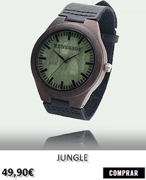 RELOJ DE MADERA RENEGADE PUREWOOD JUNGLE