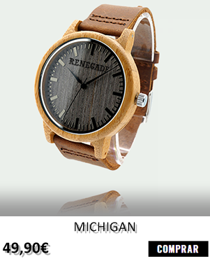 RELOJ DE MADERA RENEGADE MICHIGAN