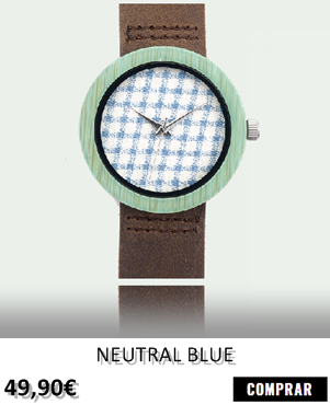 RELOJ DE MADERA RENEGADE NEUTRAL BLUE