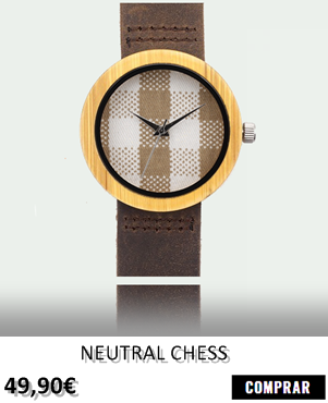 RELOJ DE MADERA RENEGADE NEUTRAL CHESS