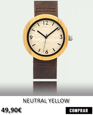 RELOJ DE MADERA RENEGADE NEUTRAL YELLOW