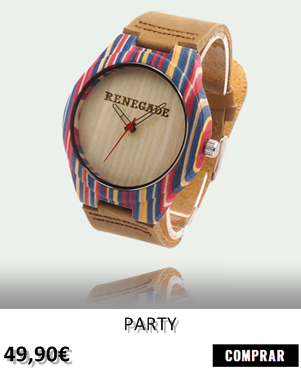 RELOJ DE MADERA RENEGADE PARTY