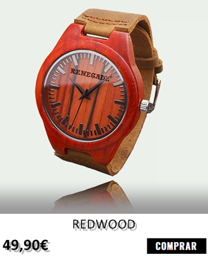 RELOJ DE MADERA RENEGADE REDWOOD