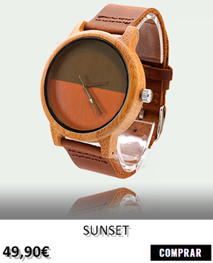 RELOJ DE MADERA RENEGADE SUNSET